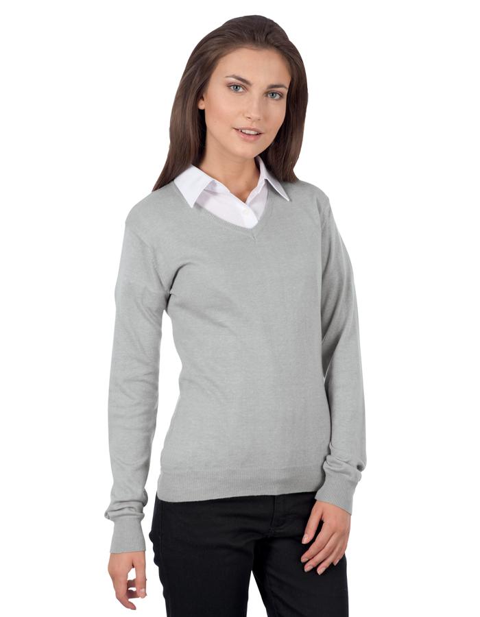 0188c644915 Dámský svetr s výstřihem do